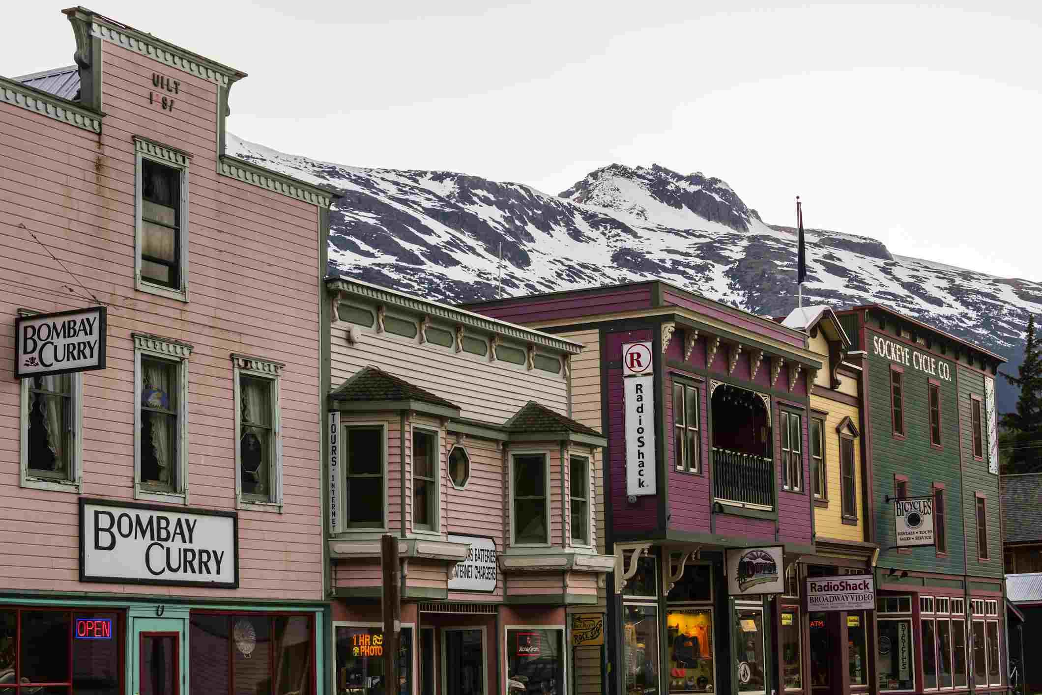Park Klondike Gold Rush Sejarah Nasional (Daerah Bersejarah Skagway), Skagway, Passage Di dalam, tenggara Alaska Amerika Syarikat.