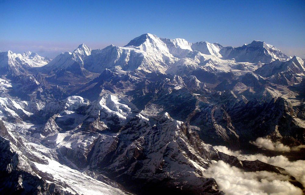 Arial view of Everest