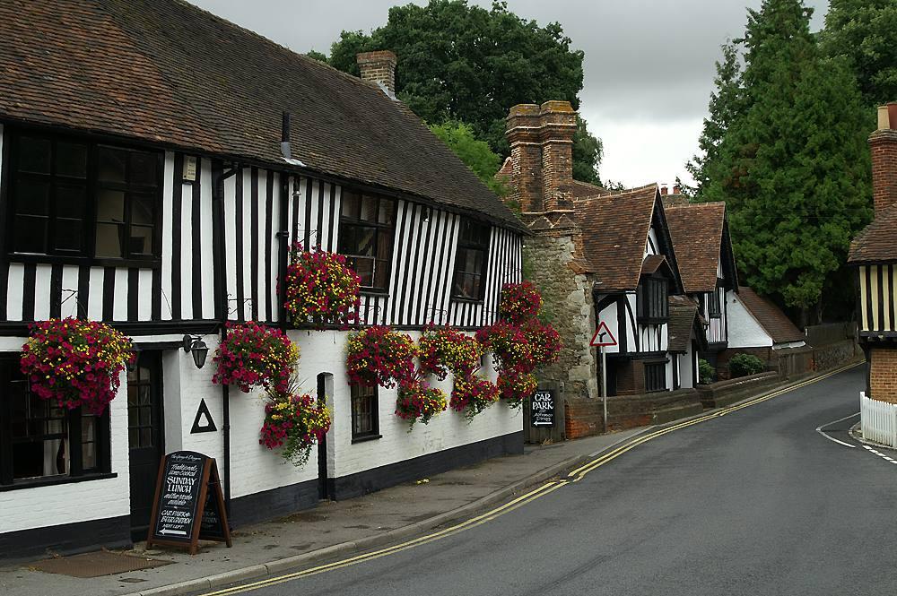 Ightham with Pub on Left