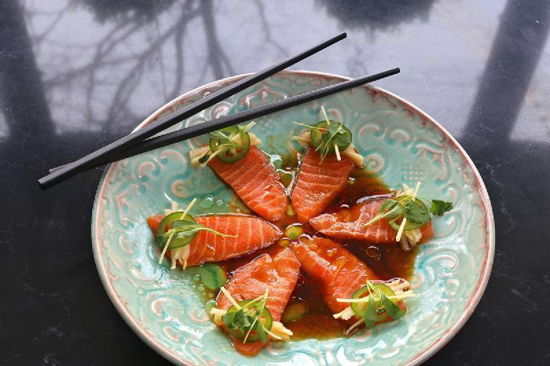 salmon-crudo