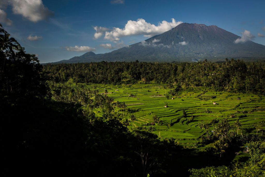 Gunung Agung mountain and foreground in Indonesia
