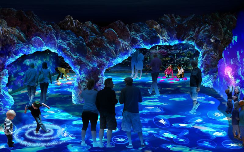 Inside the National Geographic Encounter Ocean Odyssey en Times Square