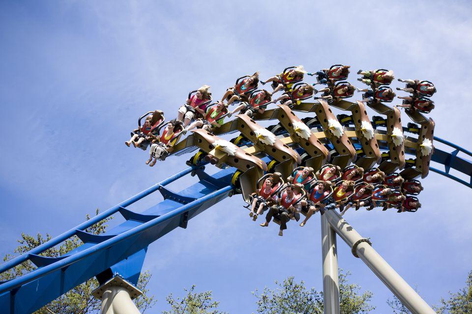 Wild Eagle coaster at Dollywood.