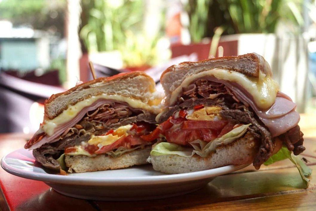 Chivito sandwich at Bar Arocena