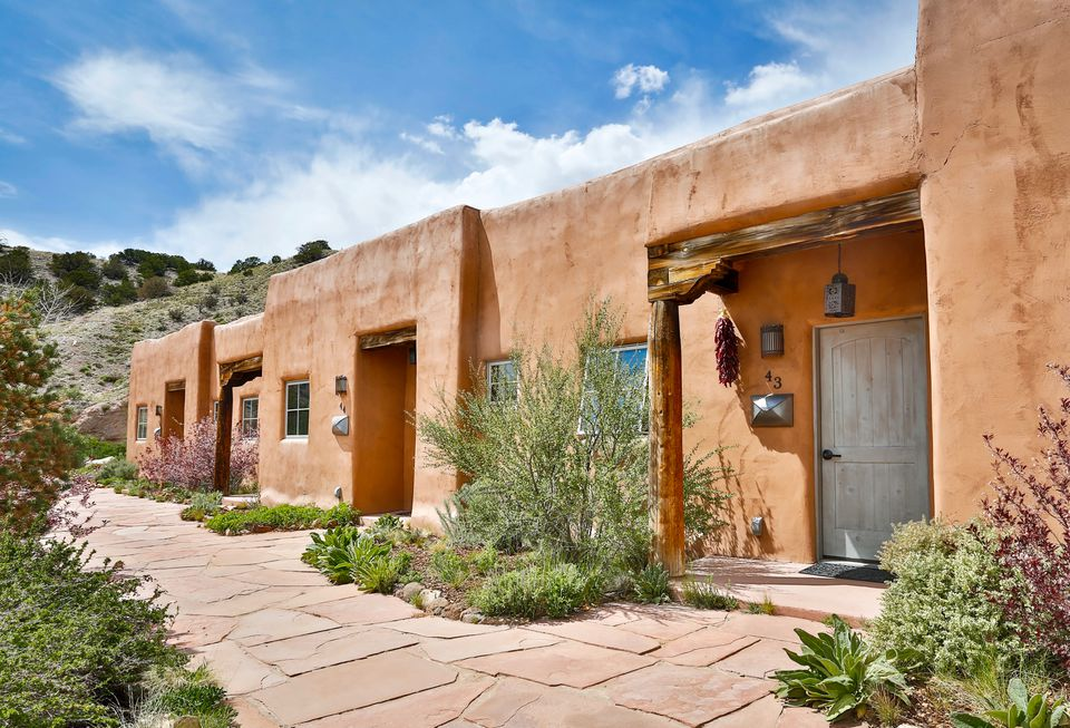 Hotel suites at Ojo Caliente Spa in New Mexico