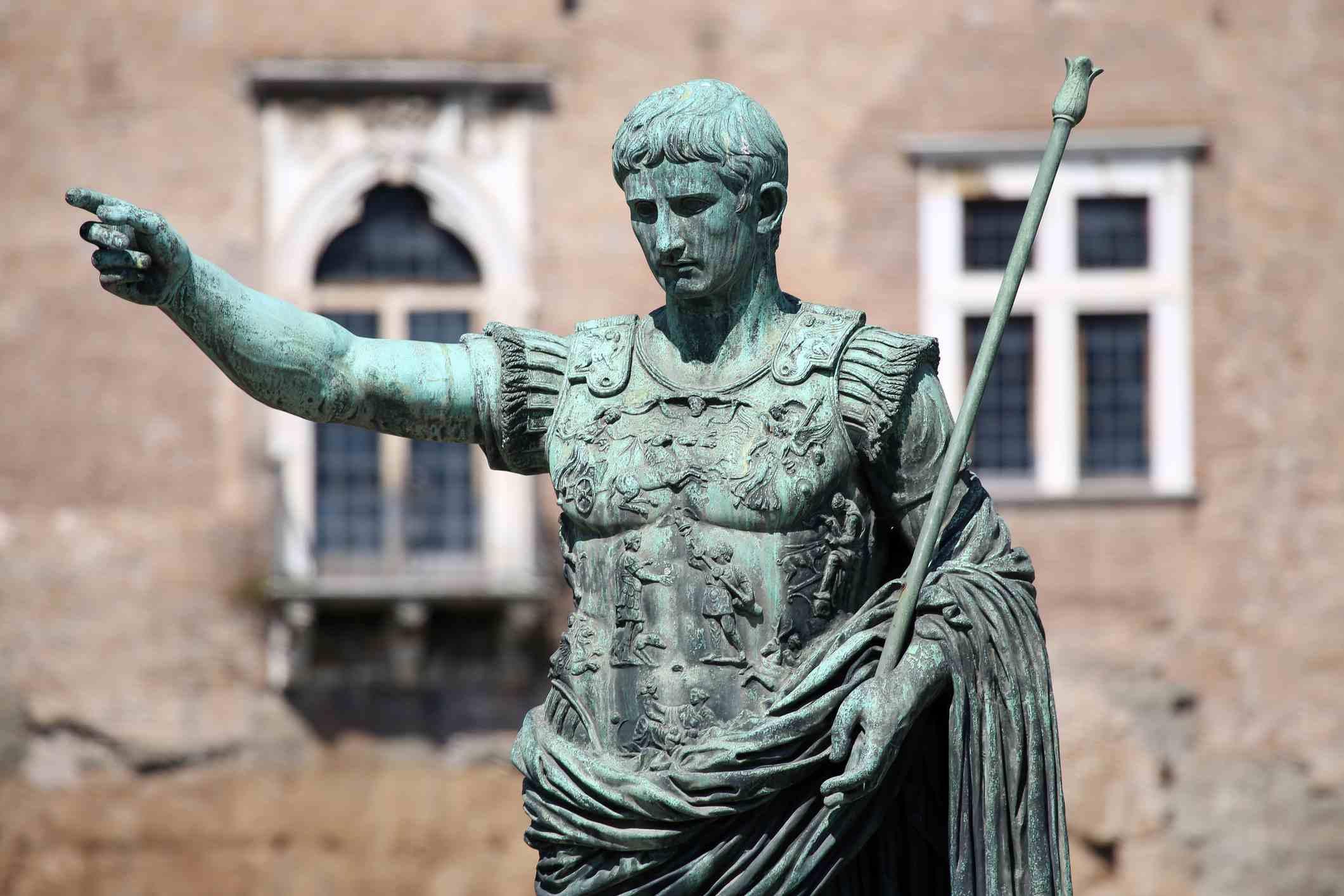 Statue of Caesar in the Roman Forum
