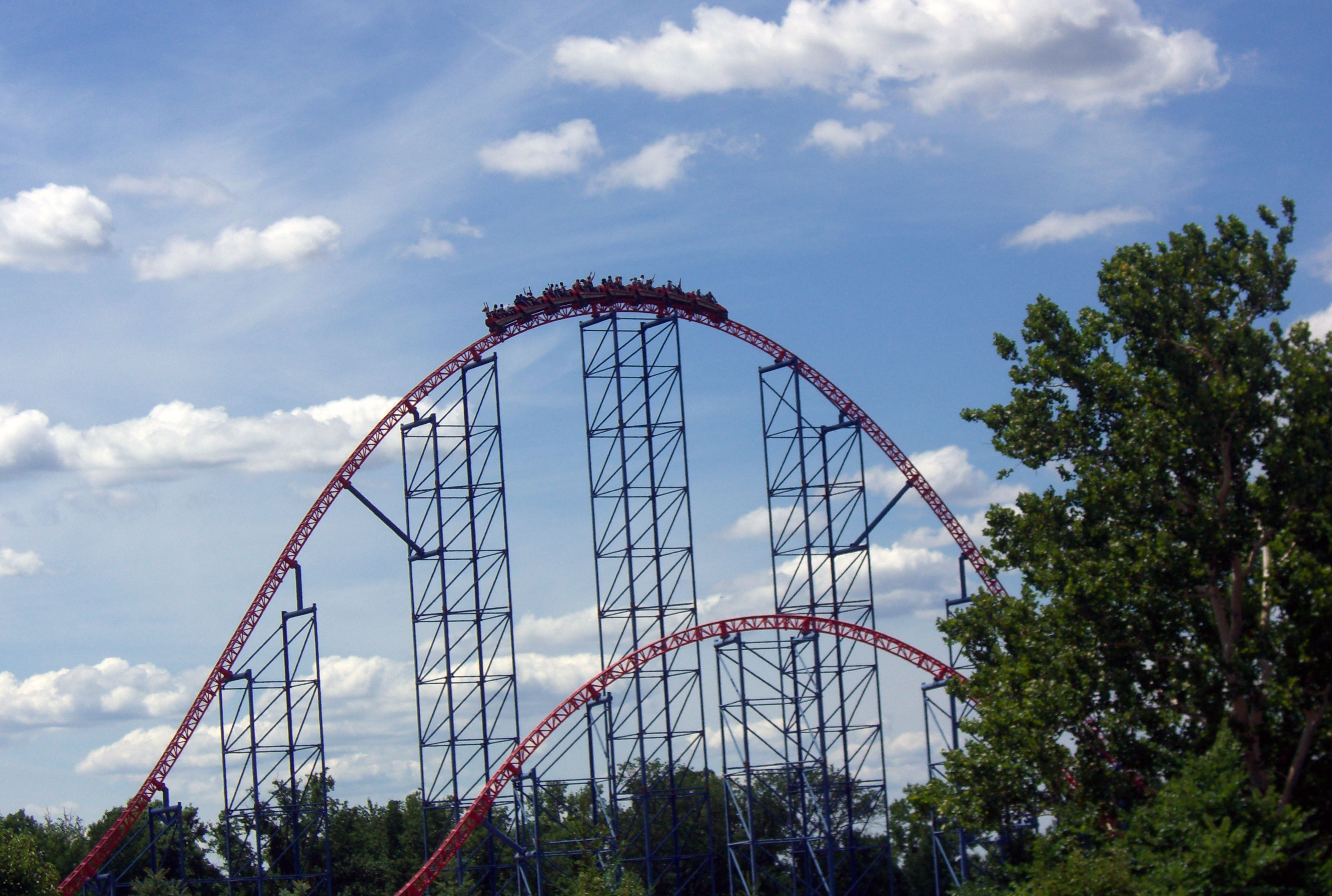 Superman Ride of Steel coaster at Six Flags America
