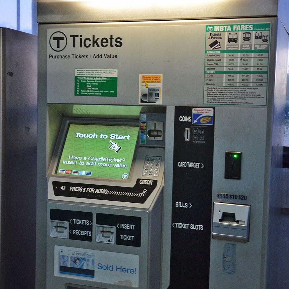 Máquina expendedora de boletos Boston T