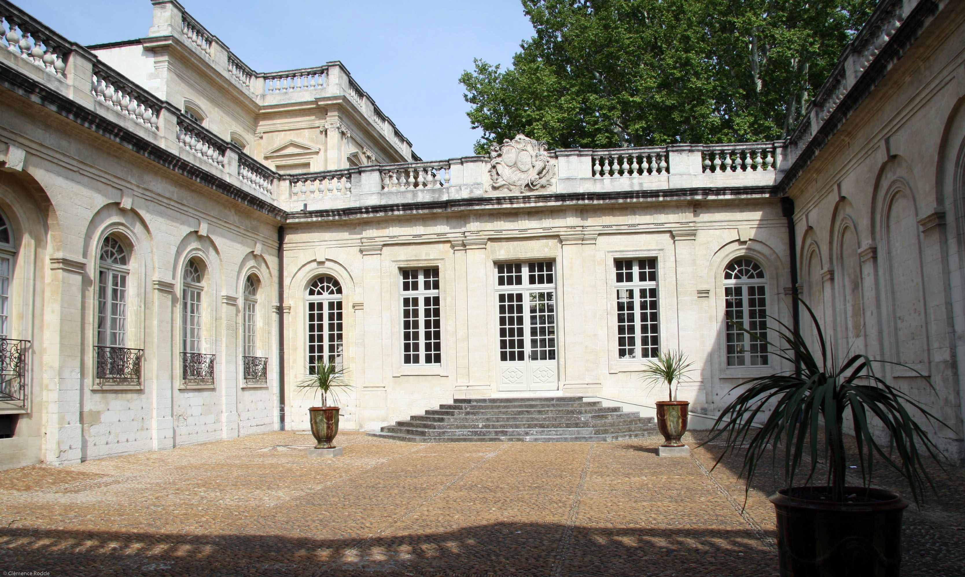 The courtyard of the Musée Calvet