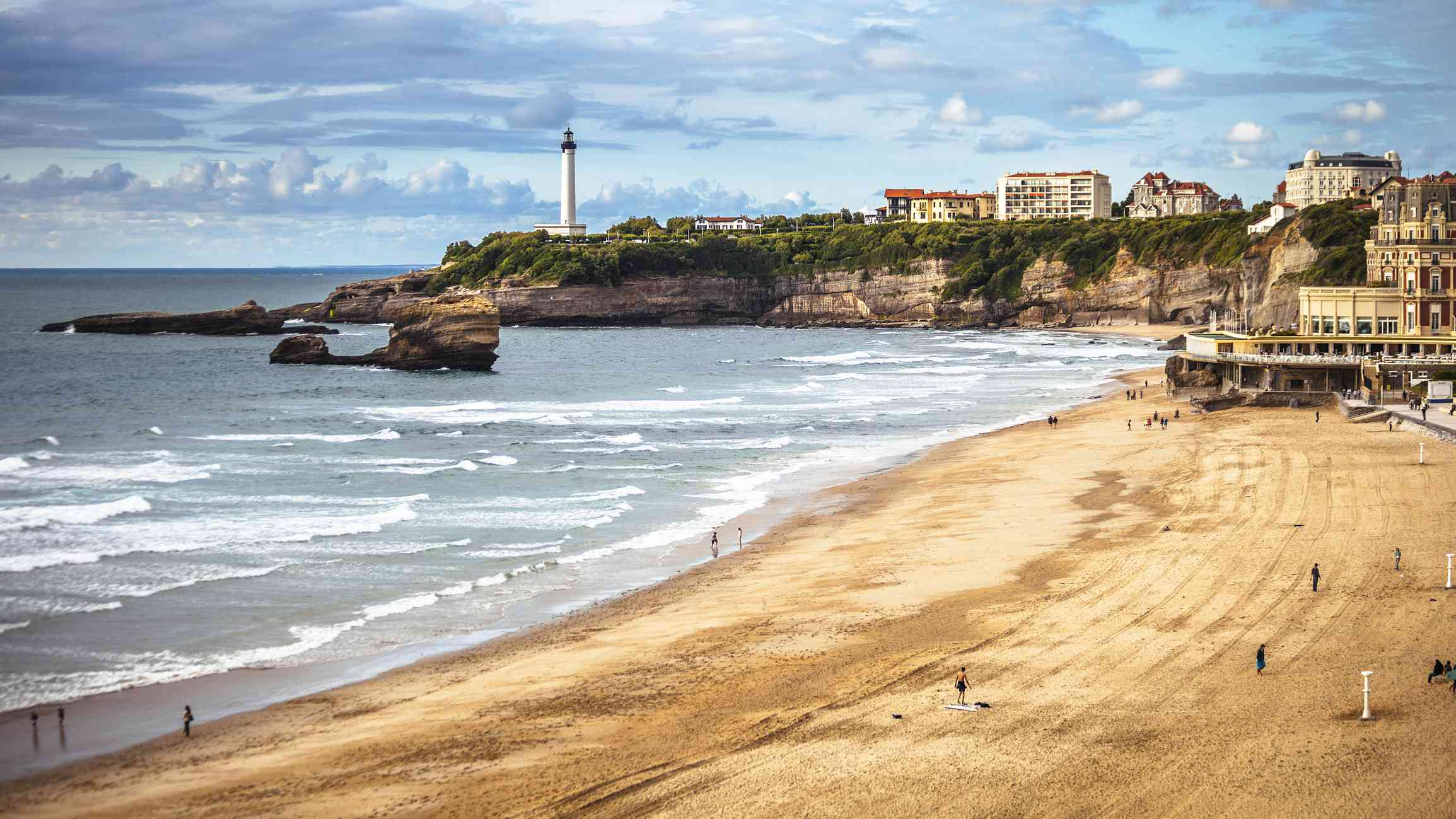 View to the beach. Biarritz, France.