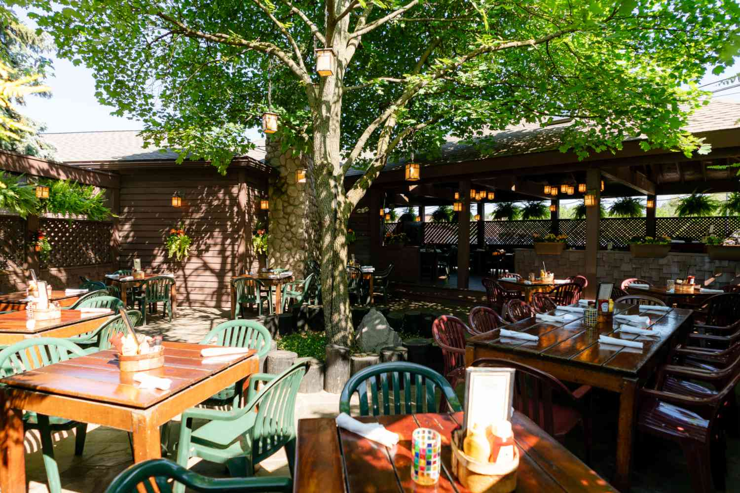 The Moose Preserve outdoor dining area