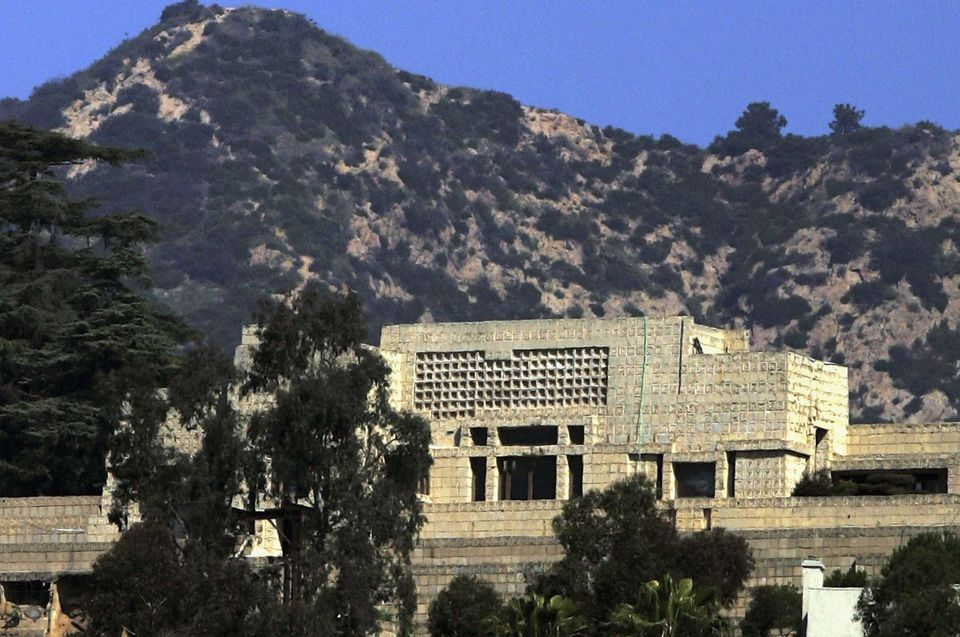 The Ennis House by Frank Lloyd Wright.