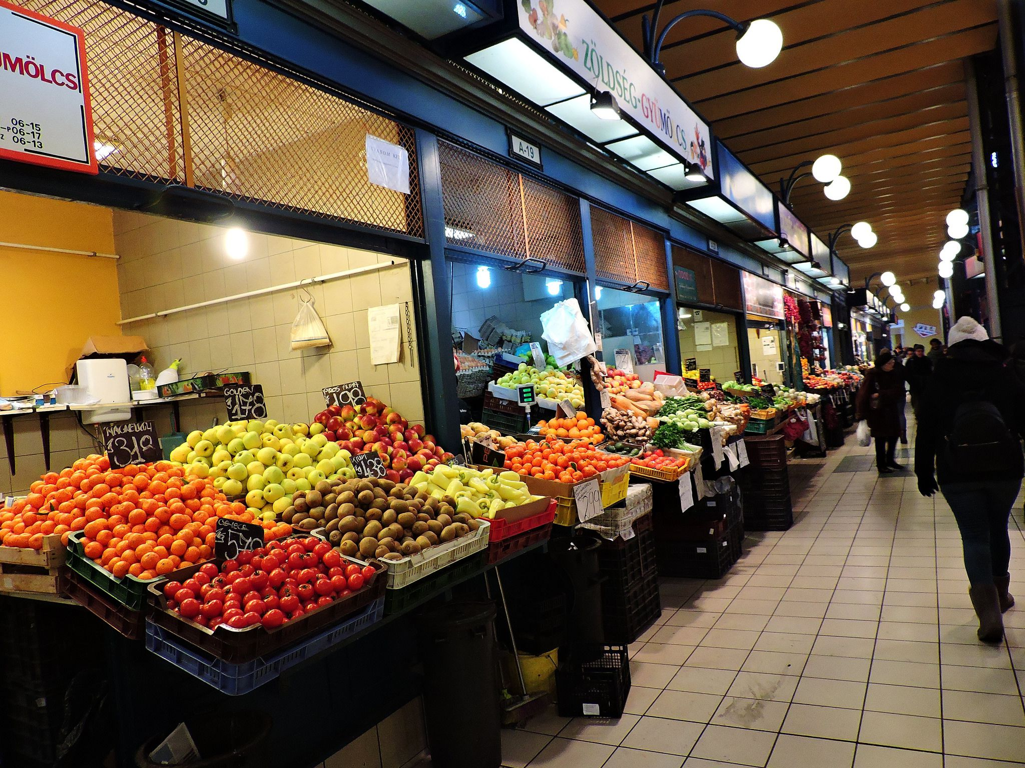 Fruit Stands at Great Market Hall Budapest