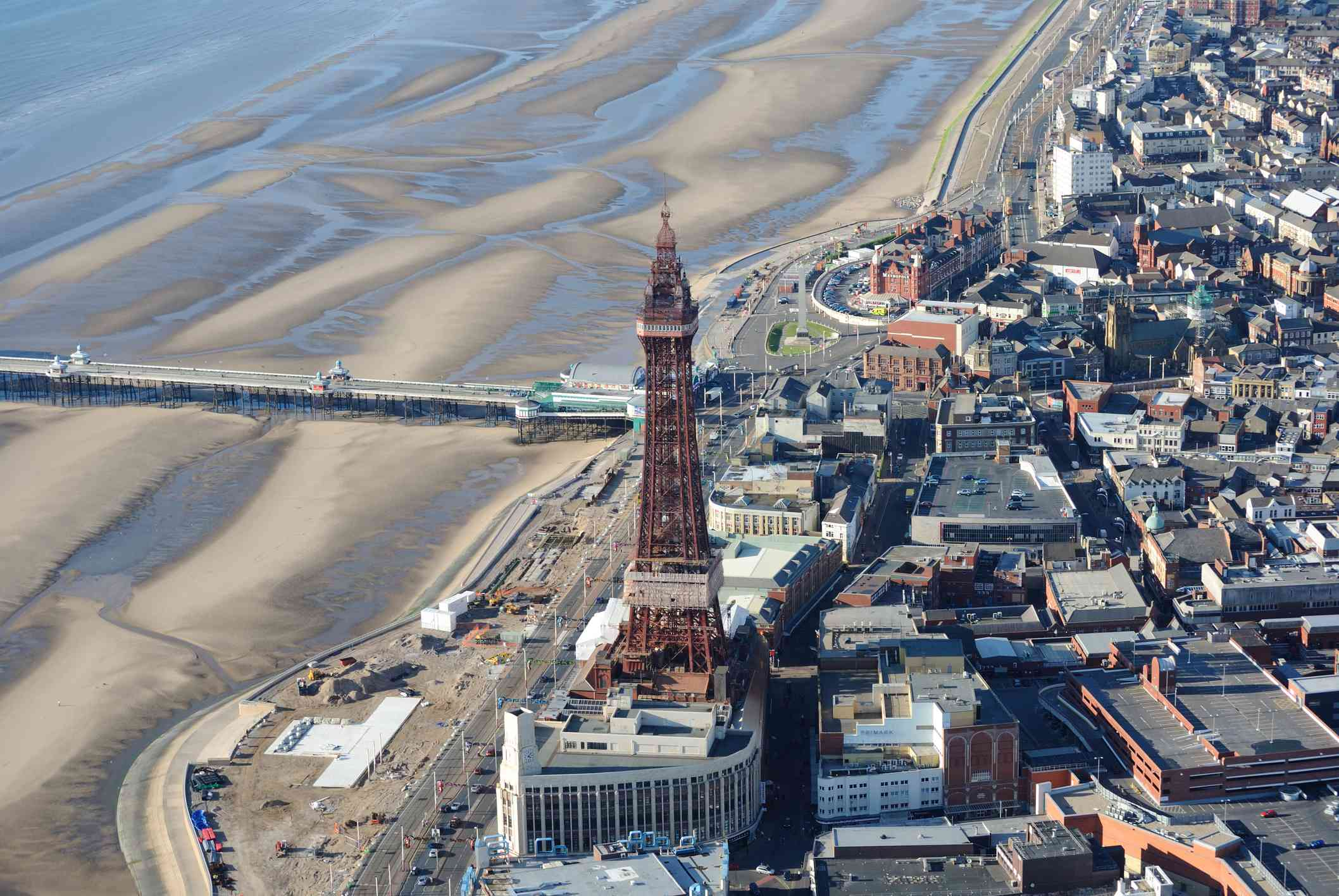 Blackpool Tower from the air