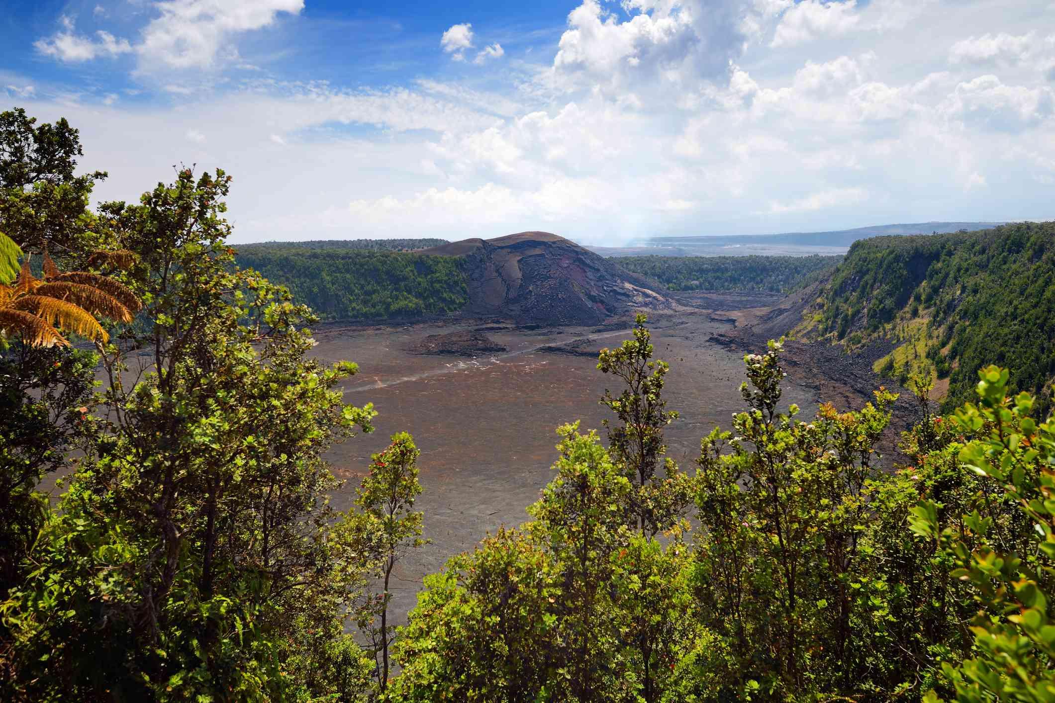 A view of Kilauea Iki trail on Hawaii Island