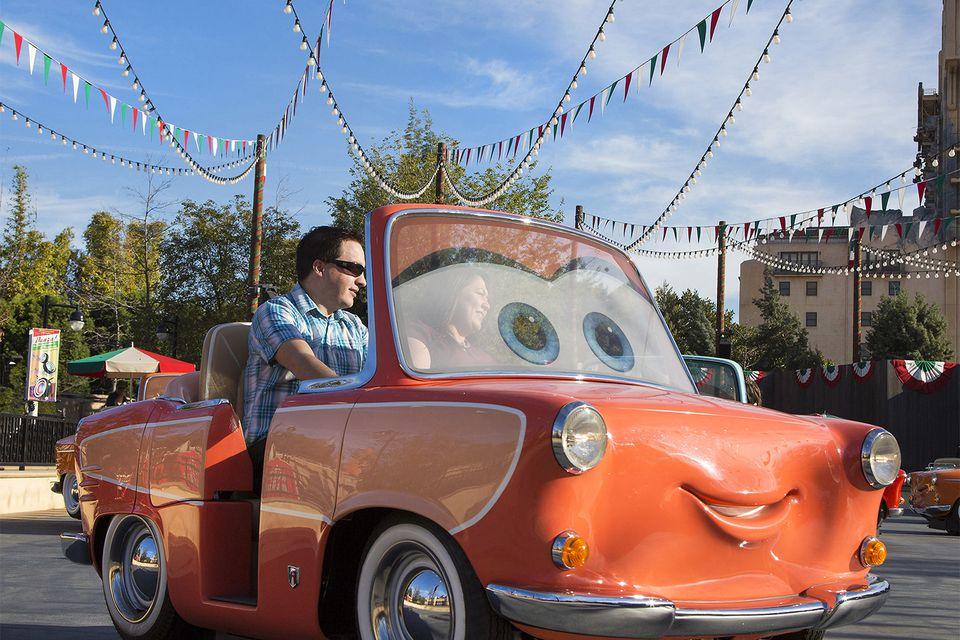 Ride Vehicle for Luigi's Rockin' Roadsters at Disney California Adventure