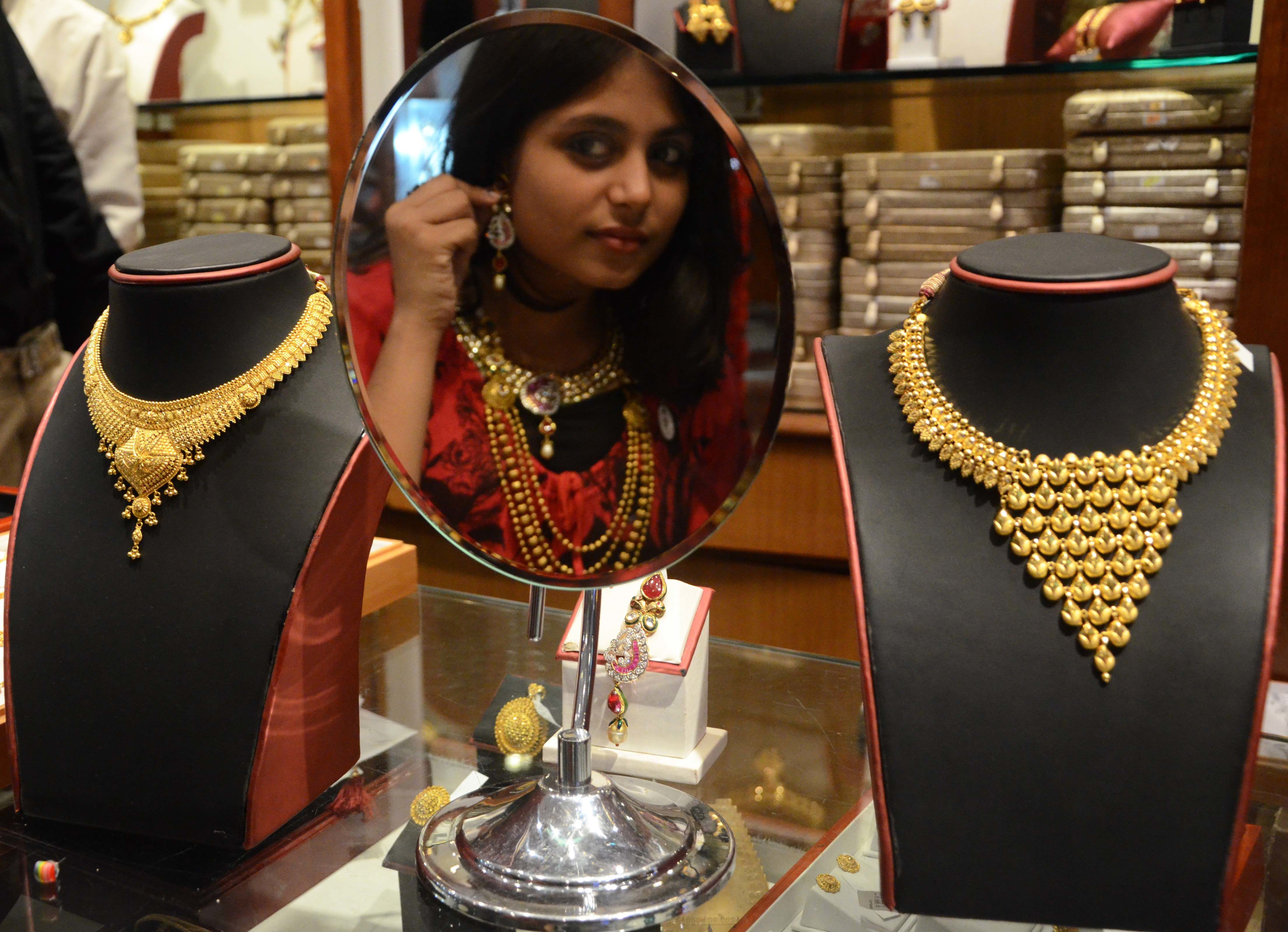 Buying gold in India.