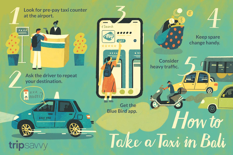 Cómo tomar un taxi en Bali