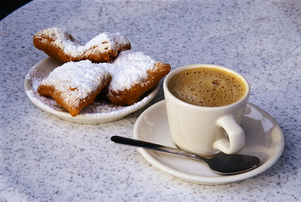 Beignets and Espresso at Cafe du Monde