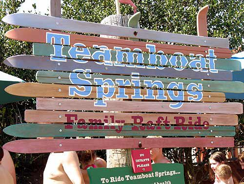 Blizzard Beach offers Teamboat Springs, one of the world's longest family raft rides.