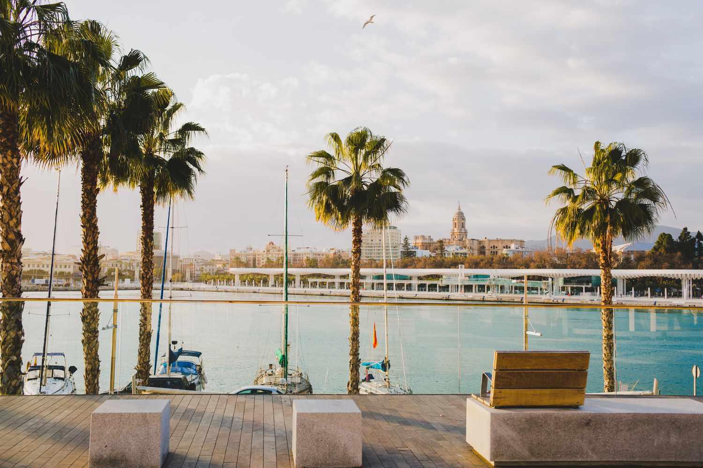 Muelle Uno port area in Malaga, Spain