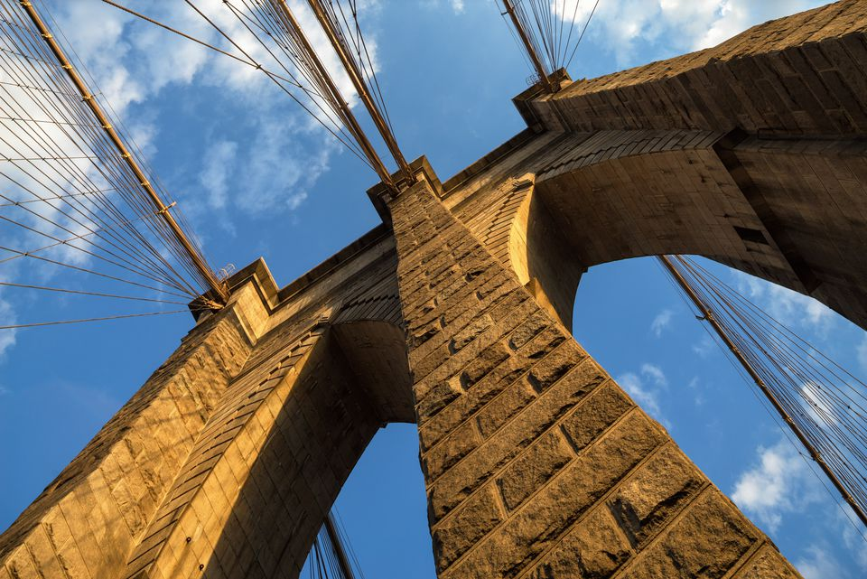 Brooklyn Bridge Tower and Cables