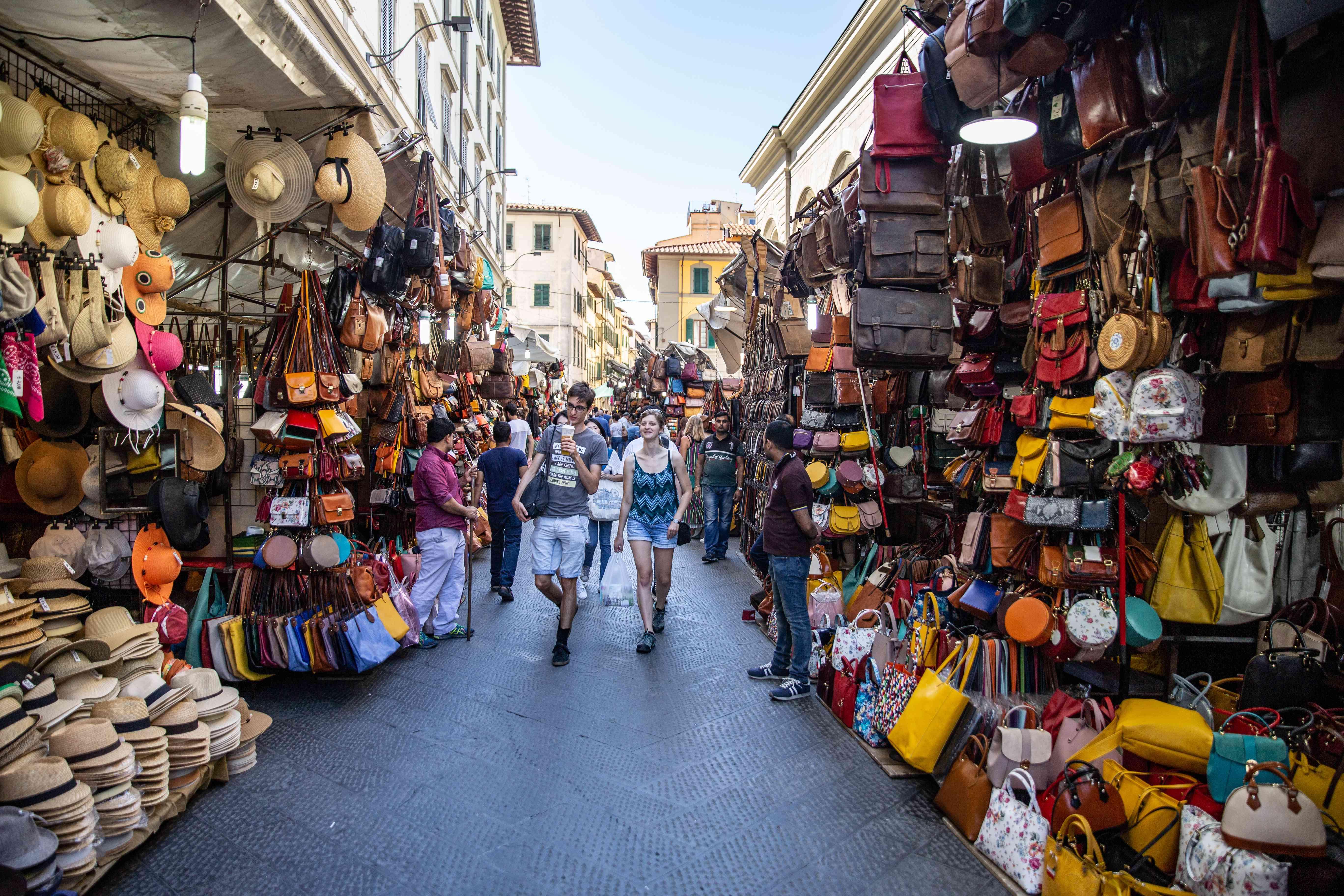 San Lorenzo Market in Florence, Italy