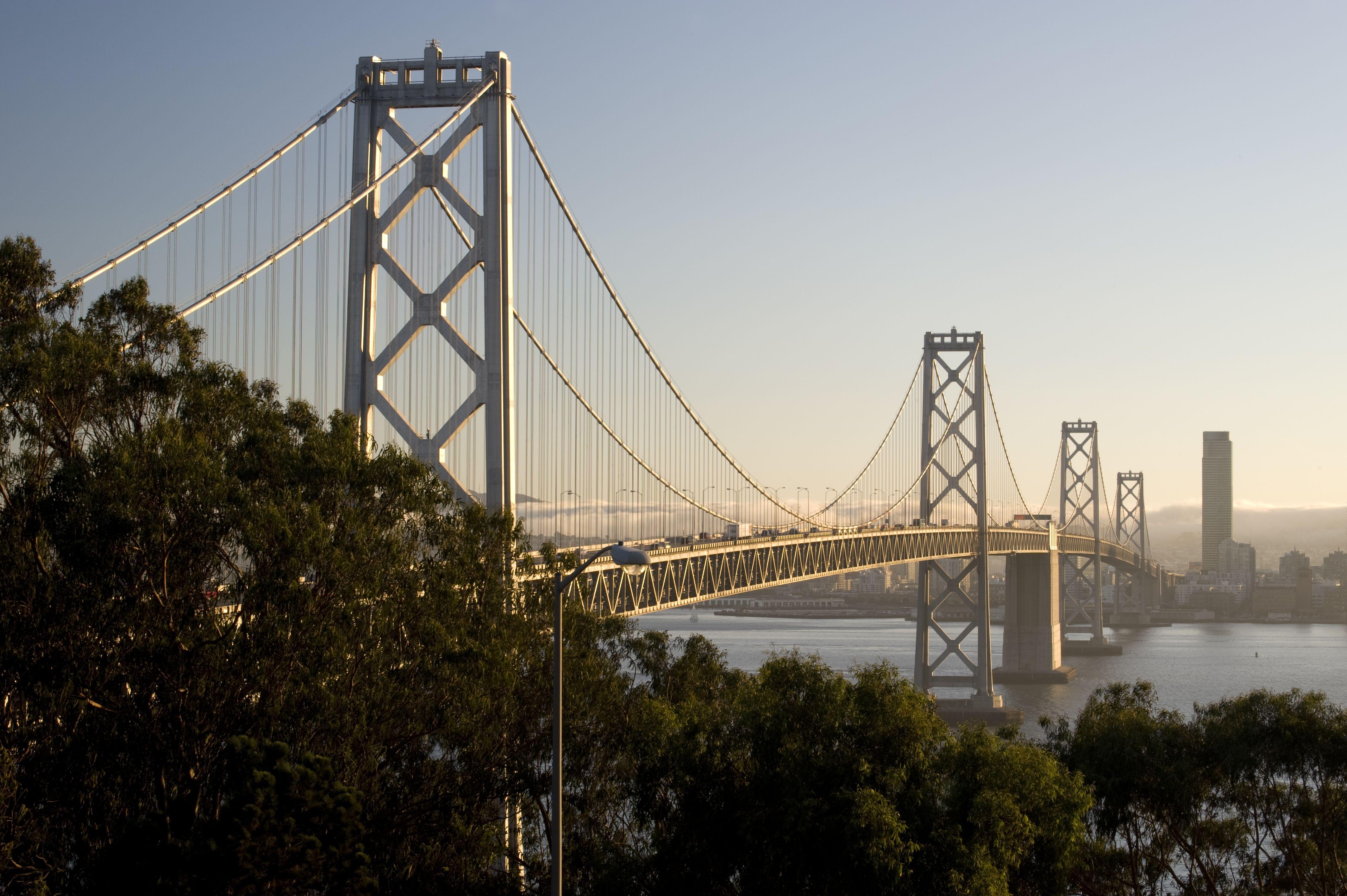View of the San Francisco Bay Bridge from Treasure Island