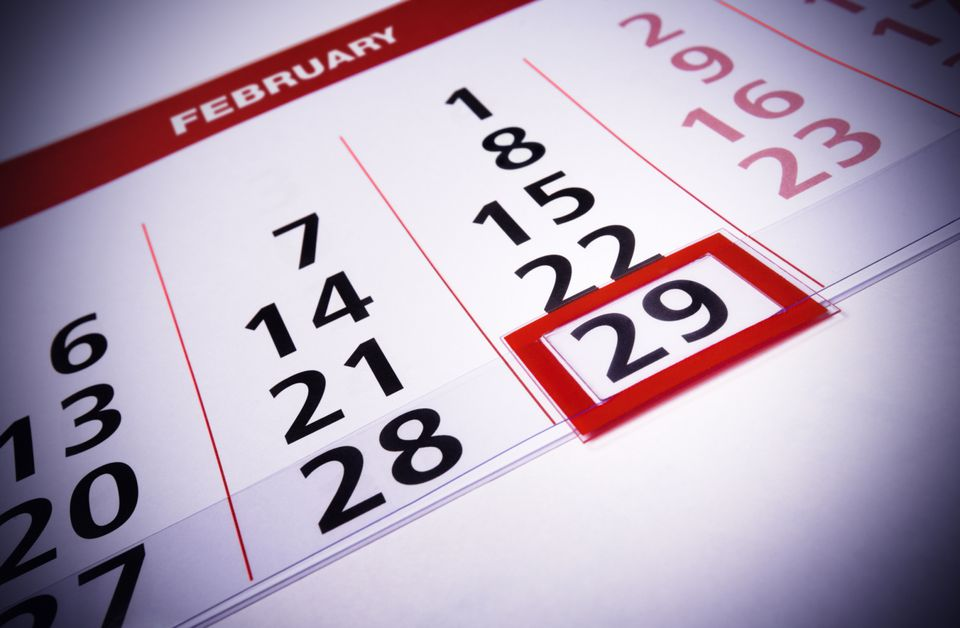 Leap Day is February 29