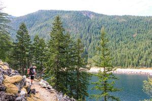 A man hiking through Northern Cascades National Park