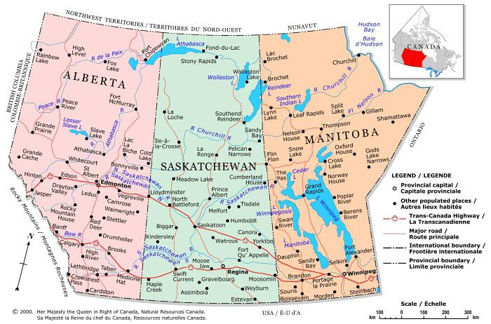 Map Southern Alberta Canada Plan Your Trip With These 20 Maps of Canada