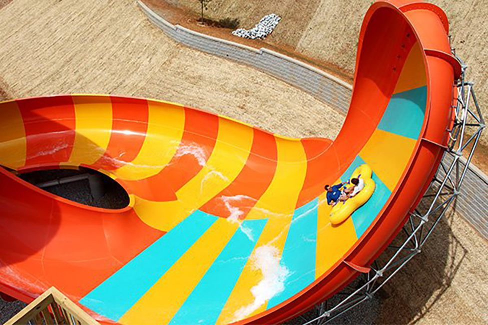 Tsunami Surge water slide at Six Flags Over Georgia