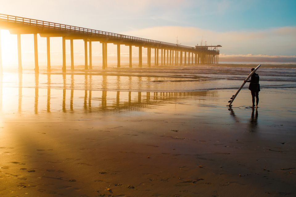 Winter Sunset at Scripps Pier in San Diego