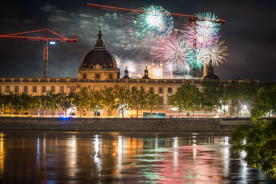 Bastille Day celebration in Lyon, France