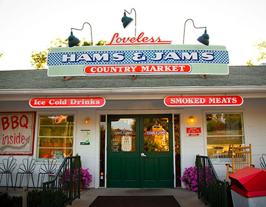entrance to the loveless cafe, Nashville