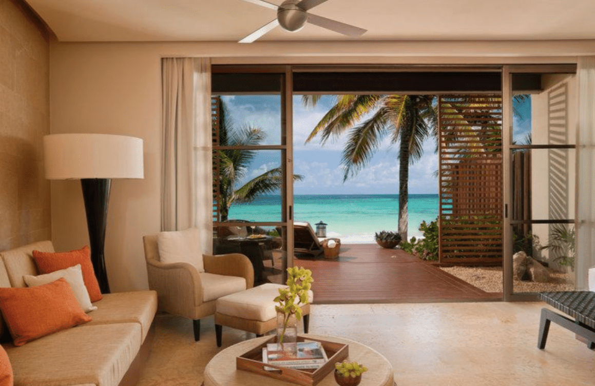 Beachfront Suite Living Room