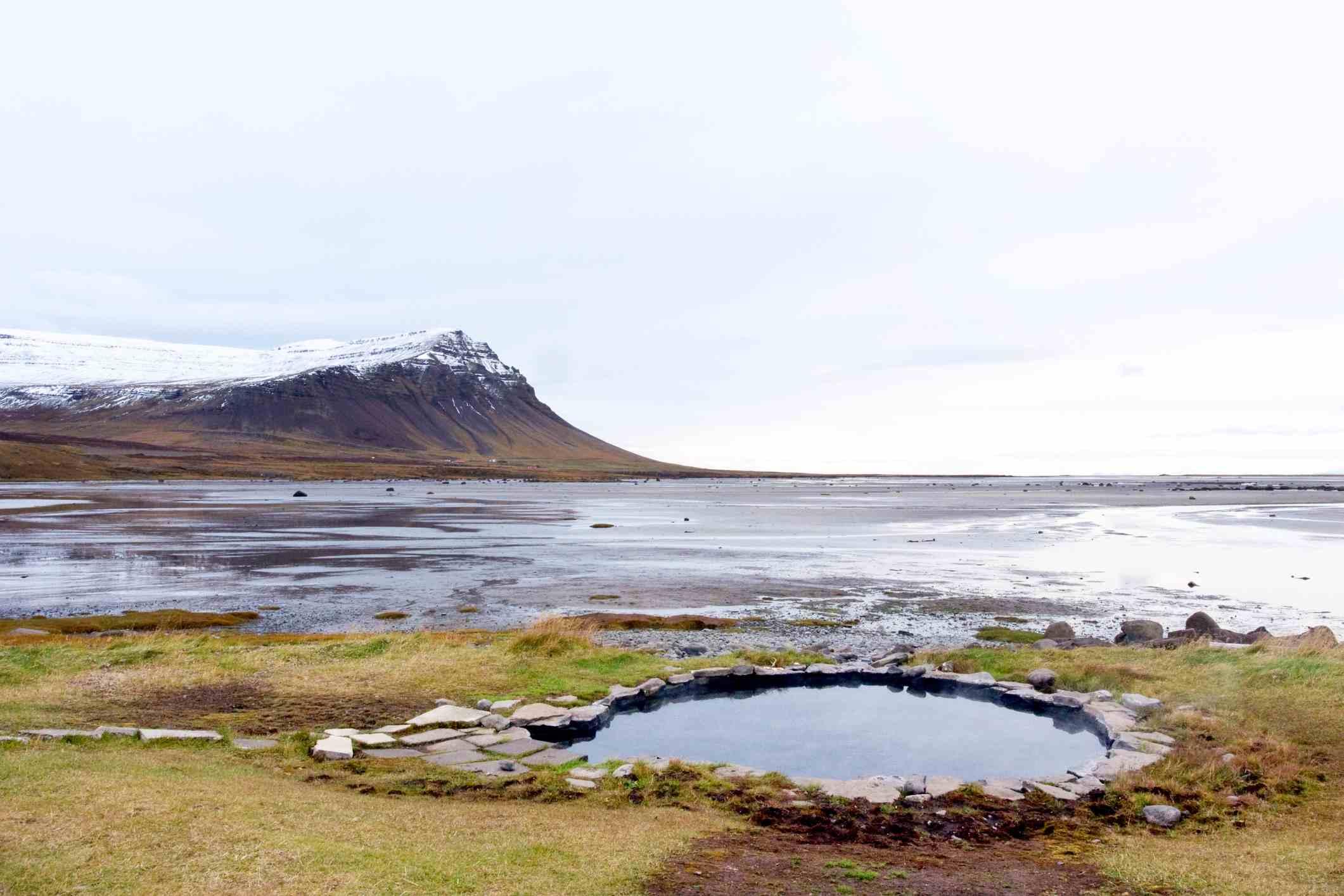Coastal Hot Spring in Westfjords, Iceland