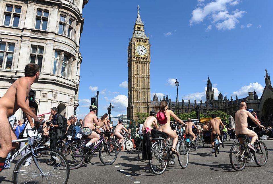 World Naked Bike Ride Around London