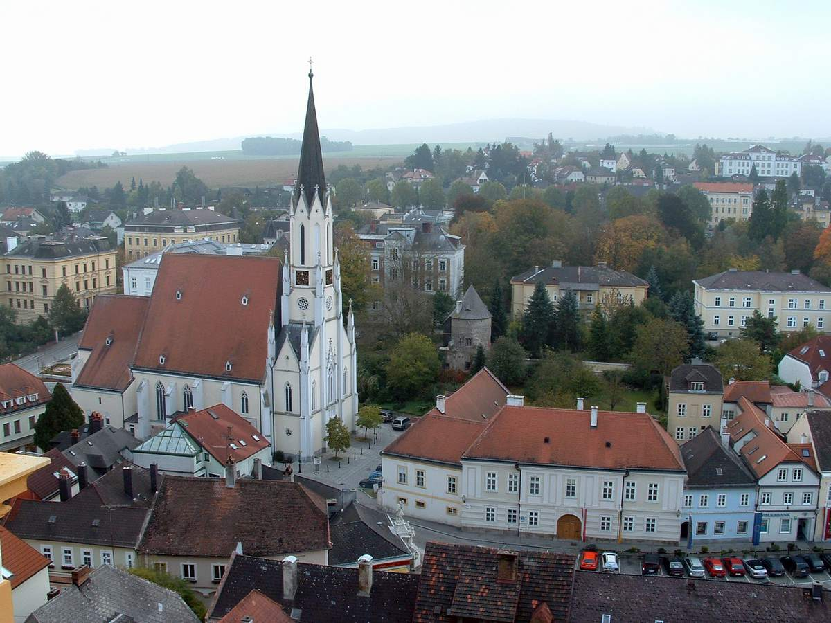 View of Melk, Austria from the Melk Abbey