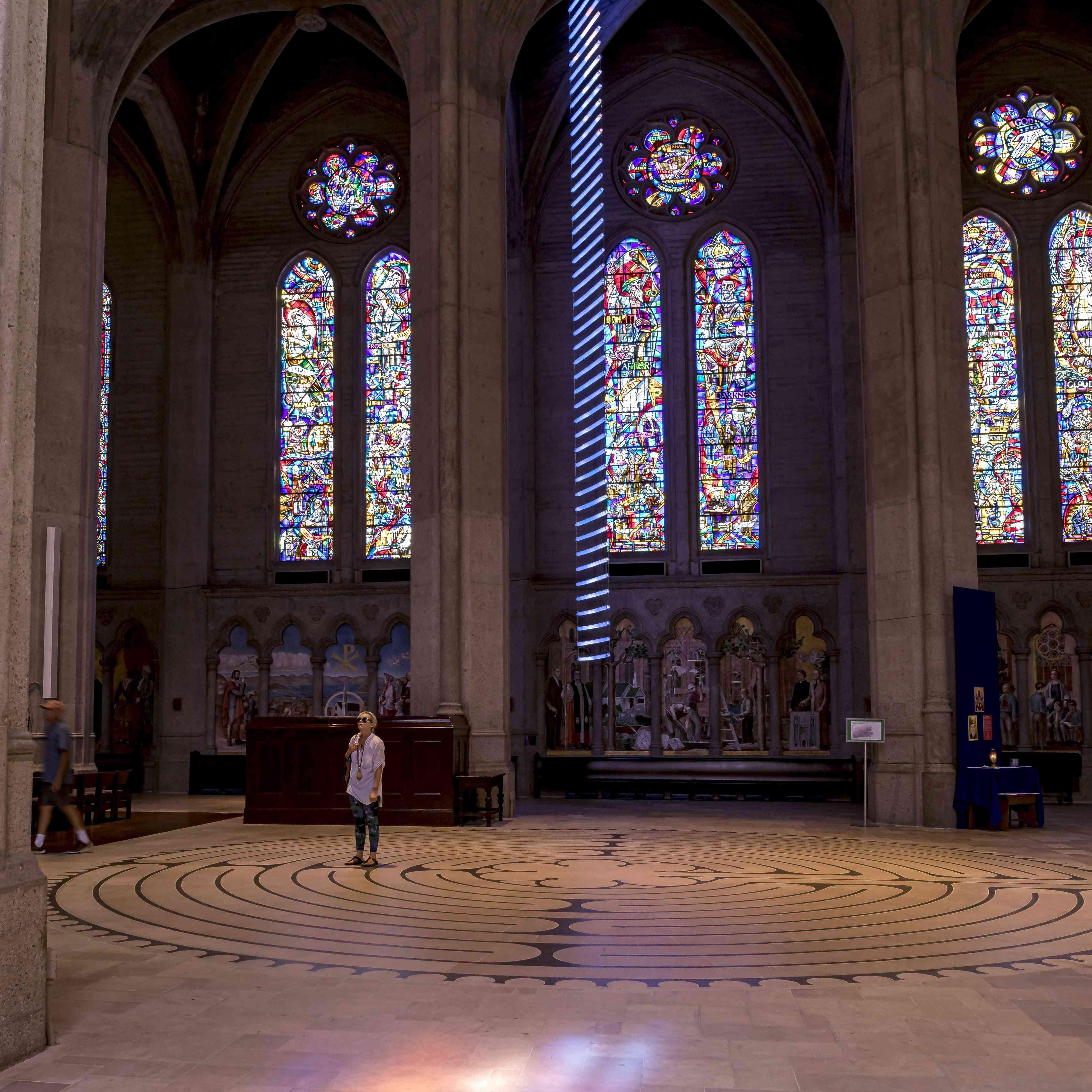 Grace Cathedral labyrinth, San Francisco