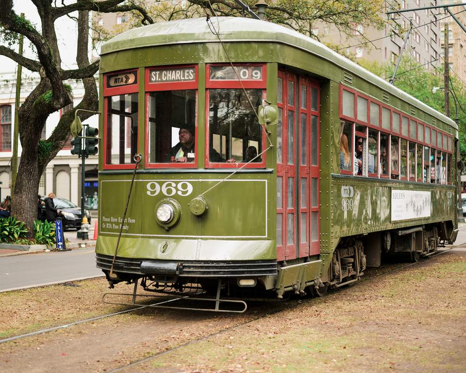 A classic tram in New Orleans