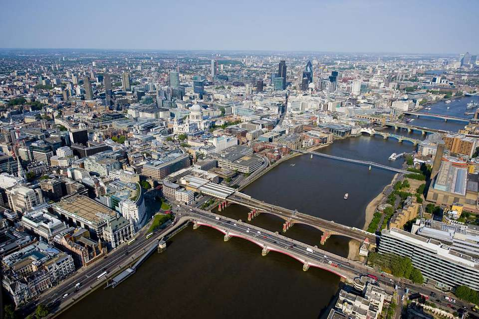River Thames and City of London