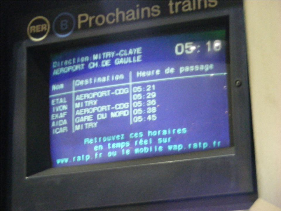 The RER in Paris can be a little complicated to use at first, but is faster than the Metro.
