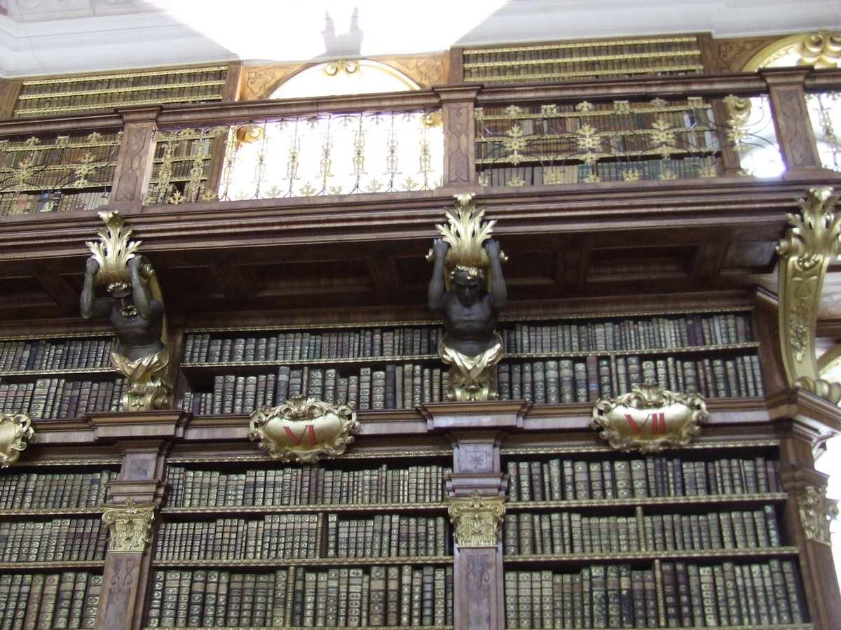 Library at Melk Abbey