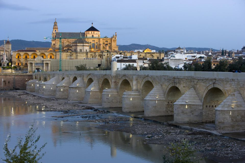 Cordoba Bridge roman on the Guadalquivir