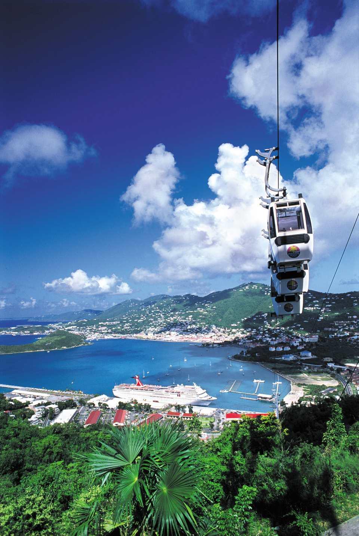 Paradise Point Skyride In St Thomas U S Virgin Islands