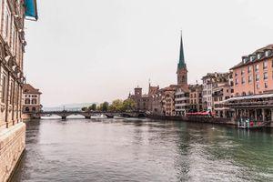 The Limmat River in Zurich