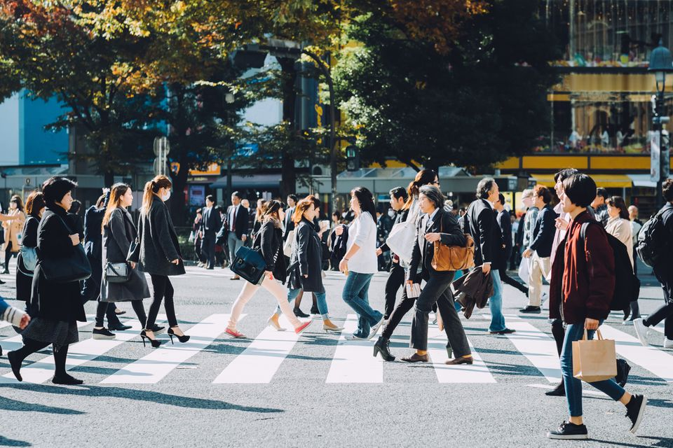 Business People Walking in Japan