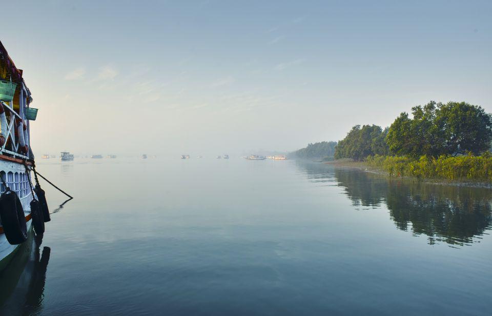 Sundarbans National Park by boat.