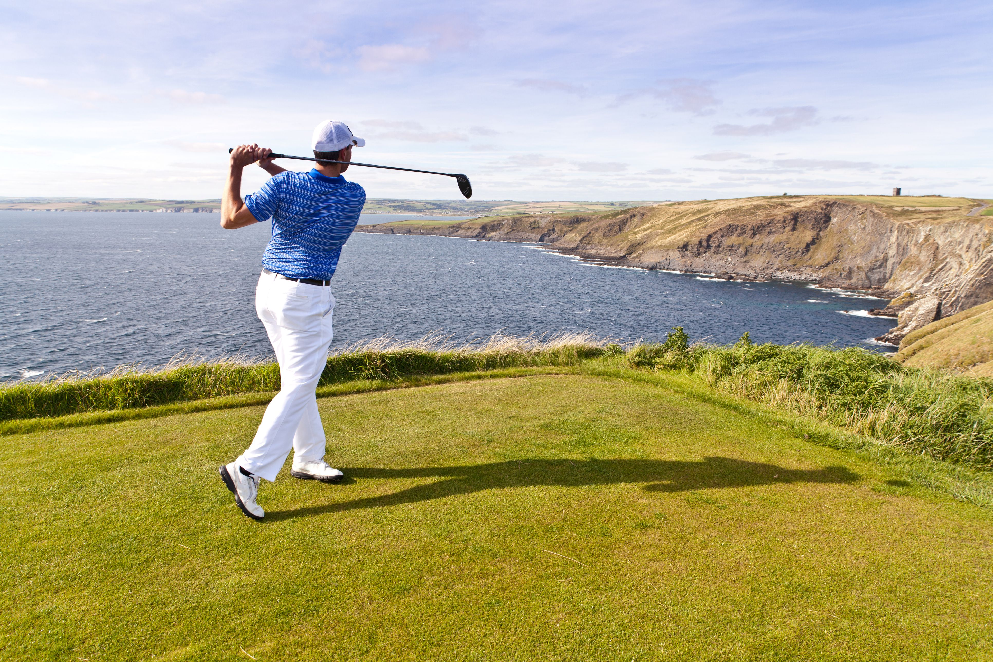 Golfer's Cliff Face Drive